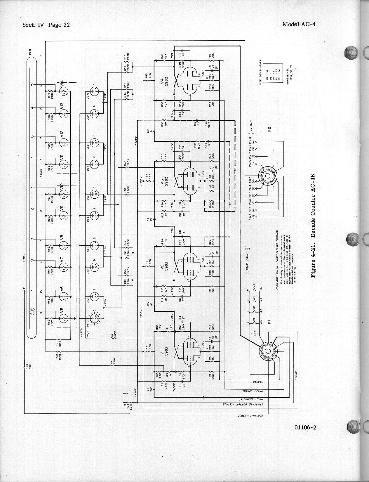 Hewlett Packard Decade Counters Ac 4 Nixieclock 1 Schematic And Sourcecode Availiable For Diagram Parts Page